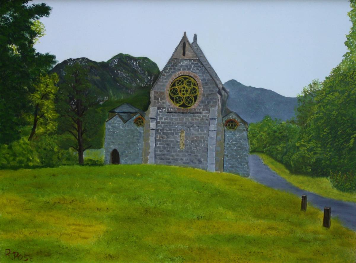 Glennfinnan church in de schotse hooglanden
